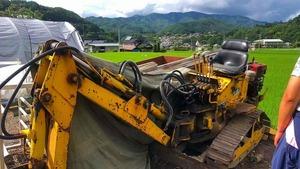ユンボ パワーショベル バックフォー 中古 長野県 整備中 部品取り ハンド