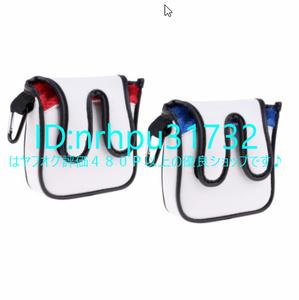 ★総合評価495★優良店★ ゴルフ マレットパター ヘッドカバー プロテクター ヘッドカバー 保護 袋 パター ケース Mz2418 正方形