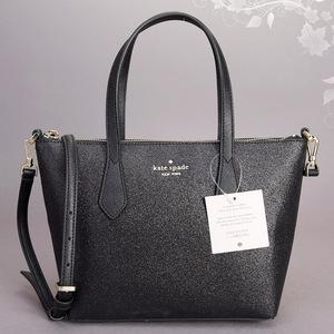 新品 極美品 ケイトスペード ジョーリー スモール サッチェル 2WAY ハンド ショルダーバッグ ブラック グリッター WKRU6281 鞄 ◆k.f/k.f