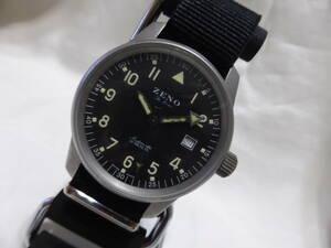 ZENO☆ゼノ 6554 自動巻き ミリタリー メンズ 腕時計☆