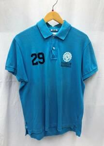 FRANKLIN & MARSHALL 半袖 ポロシャツ メンズ L 水色 ライトブルー フランクリン&マーシャル SS-668620