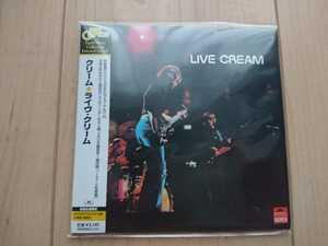 ★クリーム Cream ★ライヴ・クリーム Live Cream ★紙ジャケット仕様CD ★国内盤 ★帯付き ★未開封