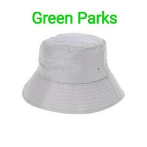 グリーンパークス GREENPARKS ナイロン バケットハット 帽子 グレイ