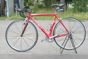 千歳発 TREK/トレック Madone 5.5 D ロードバイク 2006年モデル マドン5.5 カーボンフレーム レッド OCLV 120 Carbon Aero 52cm 現状品