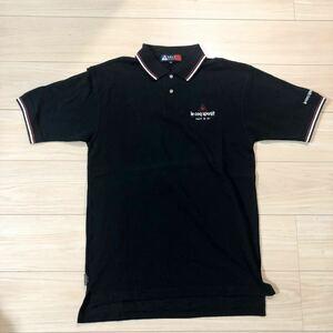 le coq sportif ルコック GOLF COLLECTION ゴルフコレクション ゴルフウェア ポロシャツ ゴルフシャツ Sサイズ 黒 美品