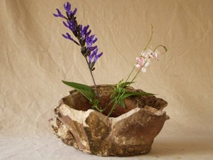 レア珍品 鎌倉時代 常滑焼壷25cm ヘタリ壷 見立て水盤 花活 陶片 植木鉢 六古窯 唯一無二