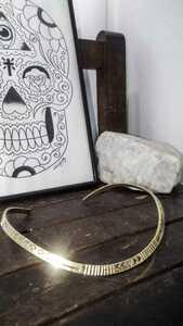 Brass hand made native american choker 真鍮製 ハンドメイド チョーカー ネイティブアメリカン Navajo ナバホ族 ビンテージ
