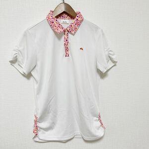 ellesse エレッセ レディース ポロシャツ 半袖 Lサイズ 白