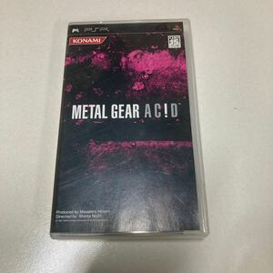 メタルギア METAL GEAR AC!D PSP PSPソフト