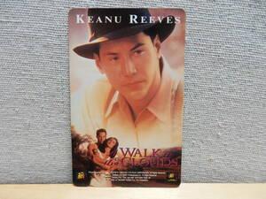キアヌ・リーヴス テレホンカード 雲の中で散歩 未使用品 映画 テレカ 俳優