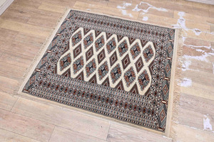 DI27 イラン/パキスタン 手織り ハンドメイドカーペット 絨毯 カーペット ラグ 幅157.5×132cm