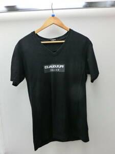 mo/437586/2107/ウノピゥウノウグァーレトレ 1piu1uguale3 Tシャツ/ブラック/サイズL