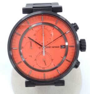 ISSEY MIYAKE イッセイミヤケ 和田智デザイン VK67-0010 クォーツ クロノグラフ ブラック オレンジ