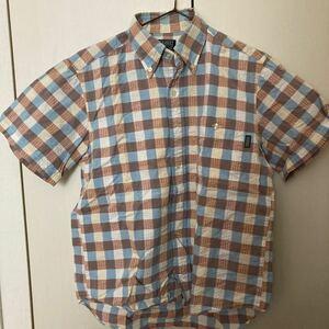 エーグル  チェックシャツ 半袖シャツ ボタンダウンシャツ