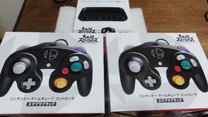 ●ニンテンドースイッチ Nintendo Switch 接続タップ + ゲームキューブコントローラー スマブラブラック 2台 セット 任天堂純正●