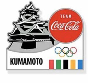 東京オリンピック2020 聖火リレー ピンバッジ 熊本県 熊本城 コカ・コーラ ピンバッジ