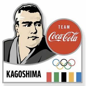 【新品未使用】東京オリンピック2020 聖火リレー ピンバッジ 鹿児島県 西郷隆盛 コカ・コーラ バッジ バッチ OLYMPIC