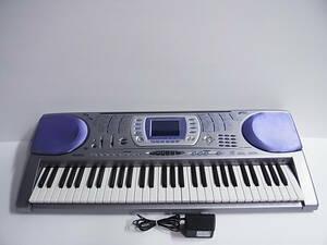 ■CASIO カシオ 電子ピアノ キーボード LK-250it 61鍵盤 光ナビゲーション ACアダプター付■