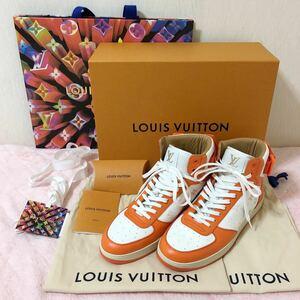 新品 LOUIS VUITTON ルイヴィトン リヴォリ ライン ハイカットスニーカー 7(26cm) オレンジ
