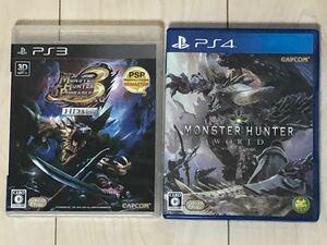 PS4ソフト モンスターハンターワールド PS3ソフト モンスターハンターポータブル3rdHDバージョン 2本セット