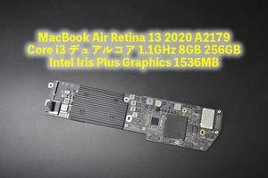 MacBook Air Retina 13 2020 Core i3 1.1GHz 8GB 256GB Intel Iris Plus Graphics 1536MB  Логика  доска   бывший в употреблении товар  A2179 1-630-7