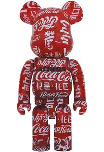 【新品未開封】BE@RBRICK atmos × Coca-Cola CLEAR RED 1000% メディコムトイ MEDICOM TOY 複数在庫あり