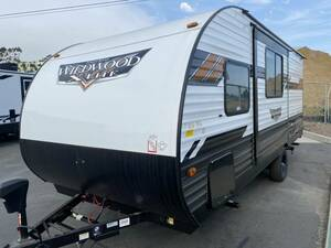 [ new car * prompt decision ]2021 FOREST RIVER WILDWOOD 178BH sliding out attaching 1 axis camping trailer