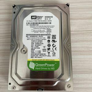 A2589:(動作保証/AVコマンド対応可能タイプ/使用28019時間) WDC WD5000AVDS-63U7B1 500GB SATA 3.5インチ