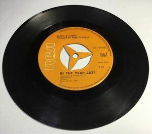 EPレコード ゼーガーとエバンズ『西暦2525年/リトル・キッド』シングル盤