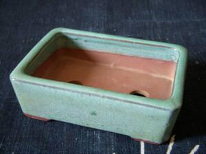 陶翠 ミニ植木鉢 盆栽鉢 青緑系