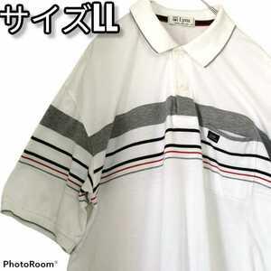 メンズ 半袖  ポロシャツ サイズLL 大きいサイズ Lynx リンクス 日本製