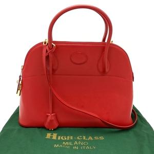 送料無料 ハイクラス HIGH CLASS ヘンリーハイクラス HENRY HIGH CLASS ハンドバッグ ショルダーバッグ 鞄 2WAY レザー 赤系 レディース