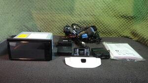 80 スズキ 純正 メモリーナビ KENWOOD KXM-E504W フルセグ ETC 軽自動車用 ドラレコ バックカメラ セット 取説付 キャロル HB36S より