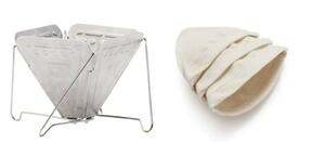 スノーピーク フォールディング コーヒードリッパー CS-113 &ハリオ ドリップポット ろか布 3枚入