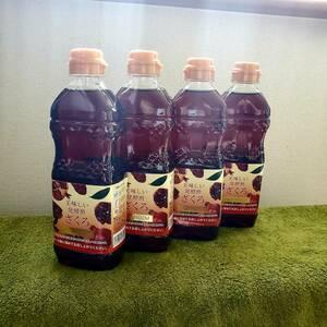 大人気 J.ノリツグ 美味しい発酵酢 ざくろプレミアム 4本セット ザクロ酢 柘榴酢 発酵食品 ビタミンC ポリフェノール オリゴ糖