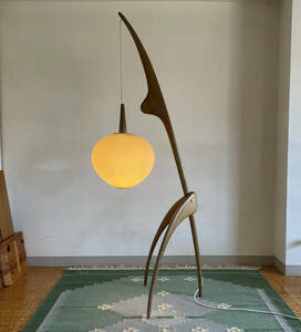 G.Rispal France Praying Mantis Floor Lamp by Jean Rispal 1952 / リスパル フロアランプ / ペリアン ジャンヌレ カッシーナ ウェグナー