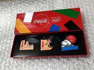 即決★非売品★新品★東京2020オリンピック★パラリンピック★コカコーラ Coca-Cola★ピンバッジ★ピンバッチ★ピンズ★競泳