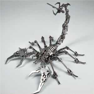 3D 金属パズル サソリ スチール組立 304ステンレス サソリ蠍 おとこの玩具 立体パズル プレゼント  DIY 想像力 同梱可能 新品