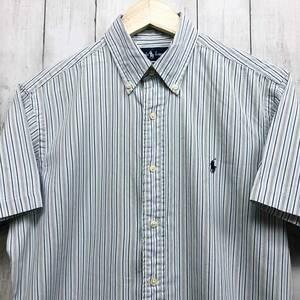 ラルフローレン POLO Ralph Lauren Polo 半袖シャツ メンズ ワンポイント サイズ15(S~Mサイズ相当) 7-177