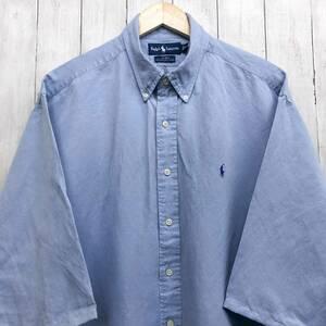 ラルフローレン POLO Ralph Lauren Polo 半袖シャツ 五分丈 メンズ ワンポイント XLサイズ 7-198
