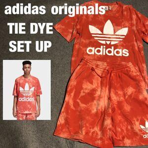 状態良 adidas originals TIE DYE SET UP アディダスオリジナルス タイダイ セットアップ Tシャツ スウェット ハーフパンツ ショートパンツ