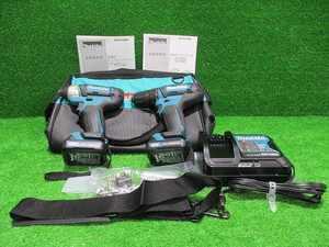 未使用品【makitaマキタ】DF333D TD110D 10.8V バッテリー2コ 充電器 袋セット 箱無し