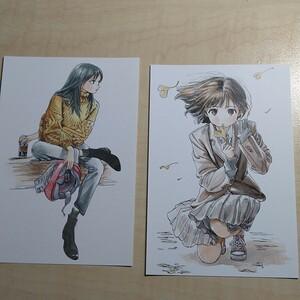スーパーカブ角川スニーカー文庫アニメ化記念イラストカード2枚セット