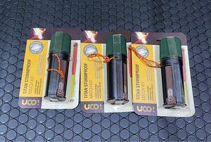 ユーコ(UCO) 防水・防風 マッチ 焚火 アウトドア用 タイタン ストームプルーフマッチキット 24162 3個セット