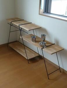 フルセット アイアンラック アイアンテーブル キャンプ アウトドア 多肉植物 棚 テーブル
