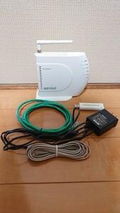 BUFFALO バッファロー無線LANルーター  54Mbps 親機+子機 AirStation WHR-G