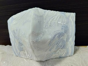 立体インナー 淡いブルーリボン刺繍チュールレース かわいい オシャレ