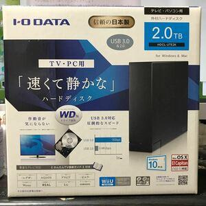 中古 HDCL-UTE2K WD製ドライブ搭載 USB 3.0/2.0対応 外付ハードディスク HDCL-UTEシリーズ 2TB