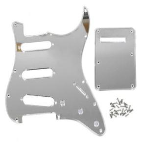 ストラトキャスター用 ミラーピックガード Silver▲Mirror usa規格 stratocaster ストラト 改造 修理 カスタム エレキギター