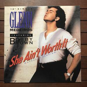 ●【r&b】Glenn Medeiros Featuring Bobby Brown / She Ain't Worth It[12inch]オリジナル盤《3-1-081 9595》